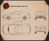 Honda Civic coupe 2014 Blueprint