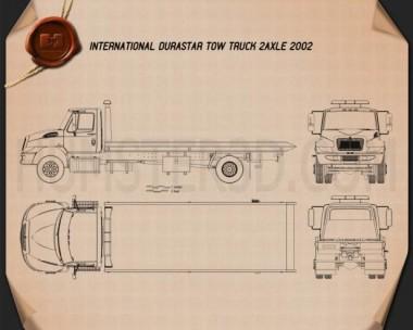 International DuraStar Tow Truck 2002 Blueprint