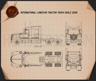 International LoneStar Tractor Truck 2008 Blueprint