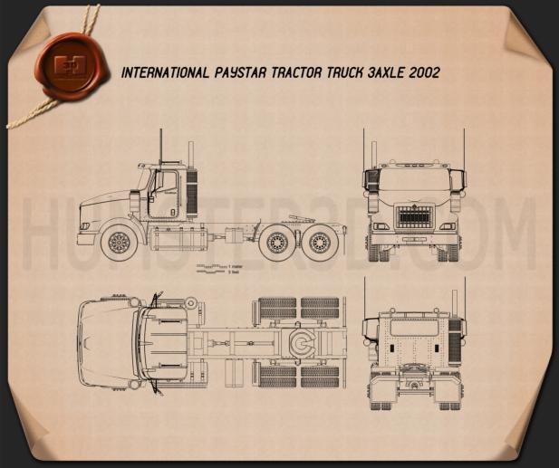 International PayStar Tractor Truck 2002 Blueprint