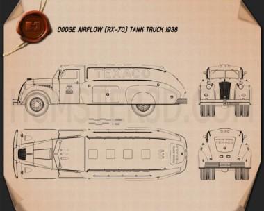 Dodge Airflow Tank Truck 1938 Blueprint