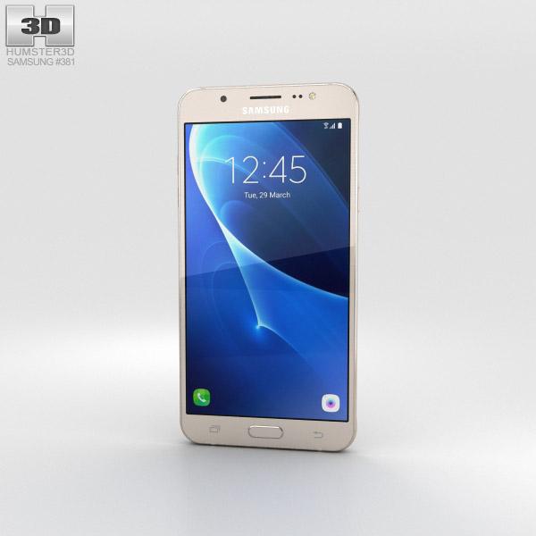 samsung galaxy j7 2016 gold 3d model electronics on hum3d