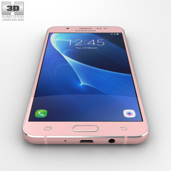 samsung galaxy j7 2016 rose gold 3d model hum3d