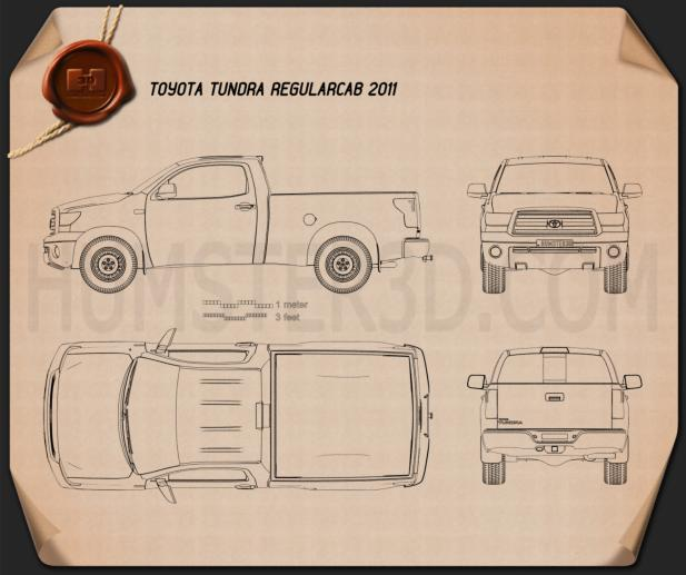 Toyota Tundra Regular Cab 2011 Blueprint