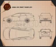 Honda Civic tourer 2014 Blueprint