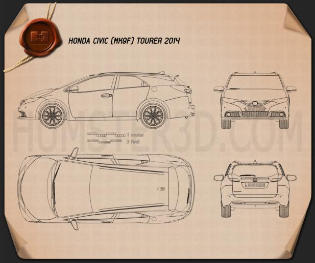 Honda Civic tourer 2014 Blueprint