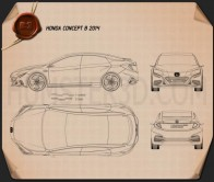 Honda B 2014 Blueprint