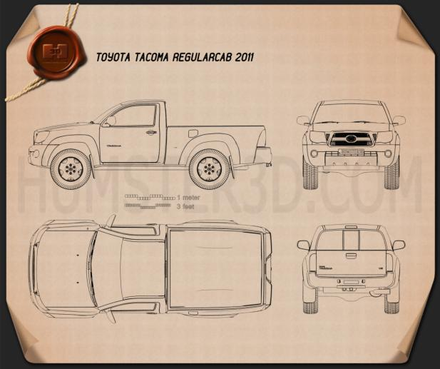 Toyota Tacoma Regular Cab 2011 Blueprint