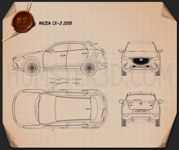 Mazda CX-3 2016 Blueprint