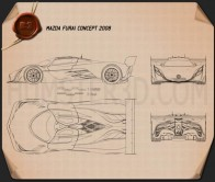 Mazda Furai 2008 Blueprint
