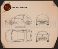 Opel Adam Rocks 2014 Blueprint