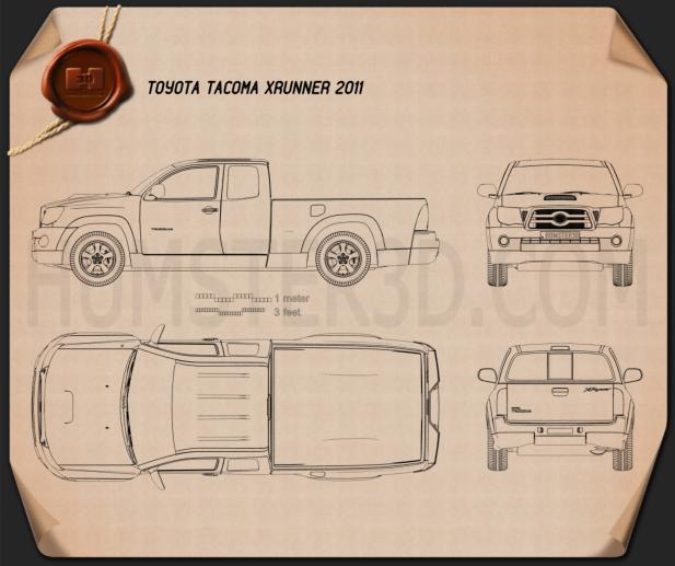 Toyota Tacoma XRunner 2011 Blueprint
