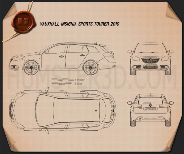Vauxhall Insignia Sports Tourer 2010 Blueprint