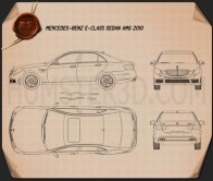 Mercedes-Benz E63 AMG (W212) sedan 2010 Blueprint