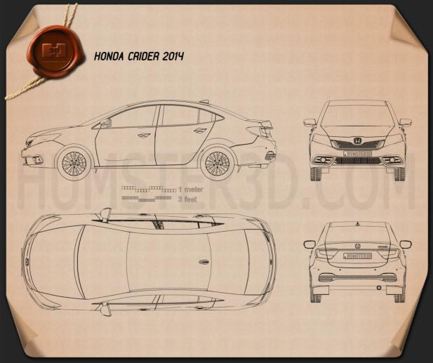 Honda Crider 2014 Blueprint