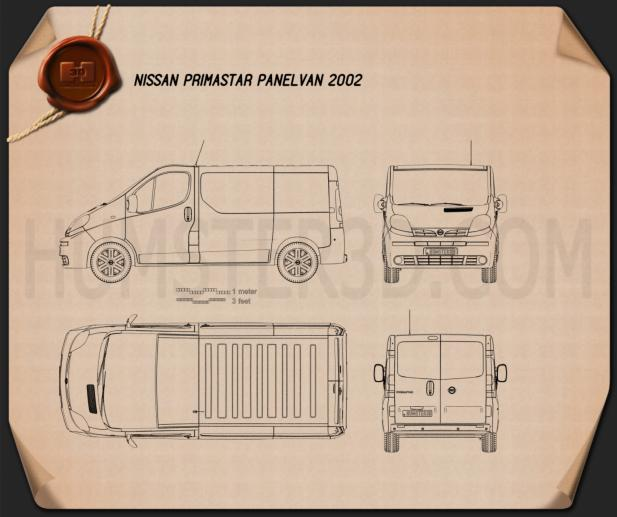 Nissan Primastar Panel Van 2002 Blueprint