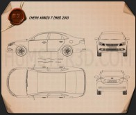 Chery Arrizo 7 2013 Blueprint
