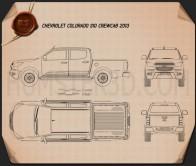 Chevrolet Colorado S-10 Crew Cab 2013 Blueprint