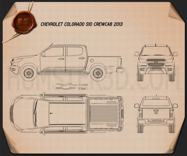 Chevrolet Colorado S-10 Crew Cab 2013 Blueprint