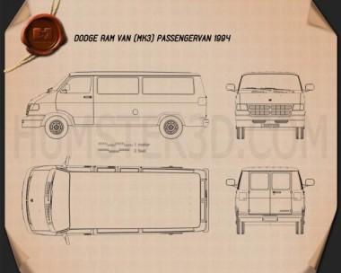 Dodge Ram Van 1994 Blueprint