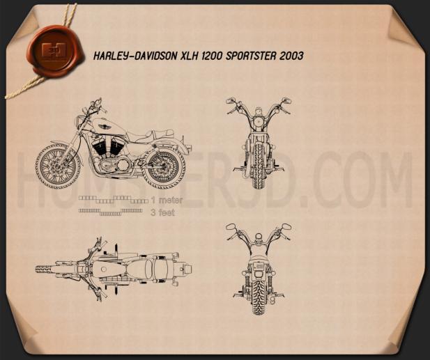 Harley-Davidson XLH 1200 Sportster 2003 Blueprint