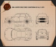Mini Cooper Countryman SD All4 2014 Blueprint
