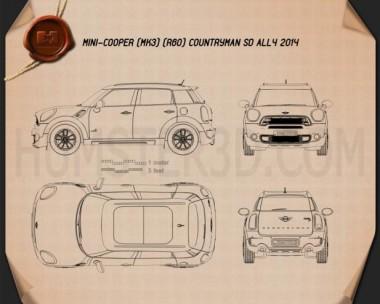 Mini Cooper Countryman SD All4 2014 Blueprint