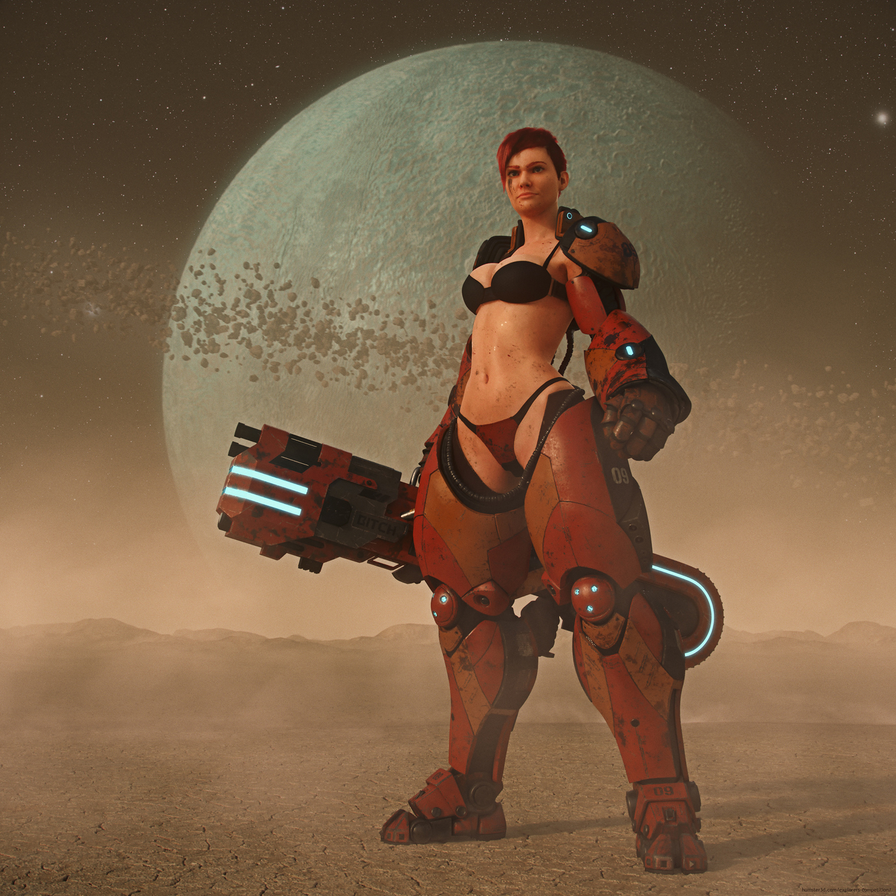 Anya, the Planet Hunter 3d art