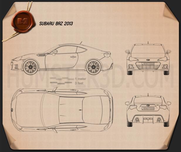 Subaru BRZ 2013 Blueprint