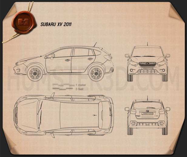 Subaru XV 2012 Blueprint