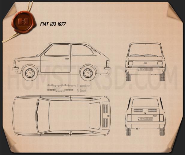 Fiat 133 1977 Blueprint