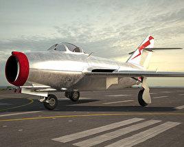 Mikoyan-Gurevich MiG-15 3D model