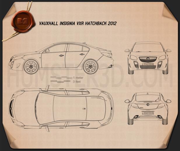 Vauxhall Insignia VXR hatchback 2012 Blueprint