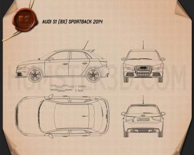 Audi S1 sportback 2014 Blueprint