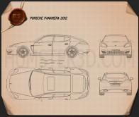Porsche Panamera 2012 Blueprint