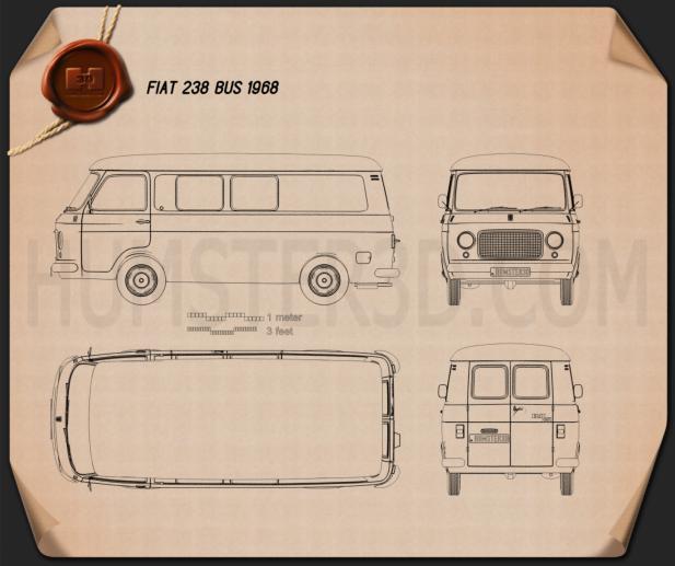 Fiat 238 1968 Blueprint
