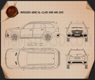 Mercedes-Benz GL-Class X166 AMG 2013 Blueprint