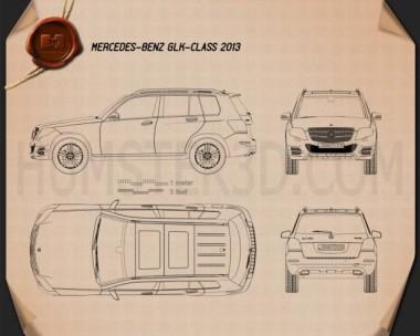 Mercedes-Benz GLK-Class X204 2013 Blueprint