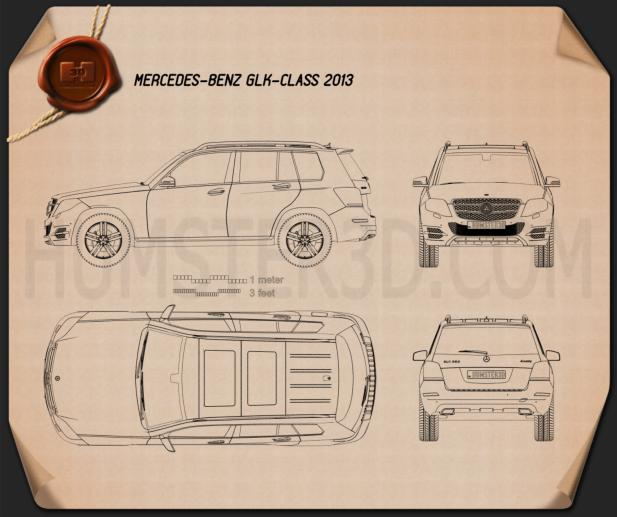 Mercedes-Benz GLK-Class X204 2013 Blueprint