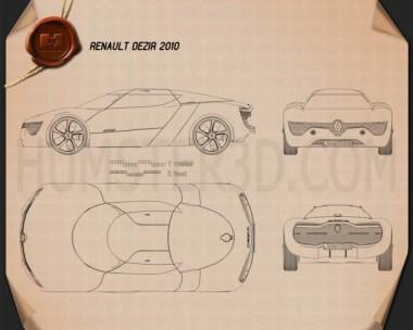 Renault DeZir 2010 Blueprint