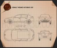 Renault Megane hatchback 2011 Blueprint