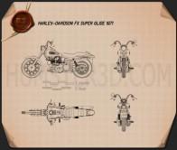 Harley-Davidson FX Super Glide 1971 Blueprint