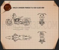 Harley-Davidson Panhead FLH Duo-Glide 1958 Blueprint