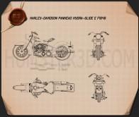 Harley-Davidson Panhead Hydra-Glide E F 1949 Blueprint