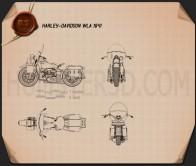 Harley-Davidson WLA 1941 Blueprint