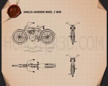 Harley-Davidson model 2 1906 Blueprint