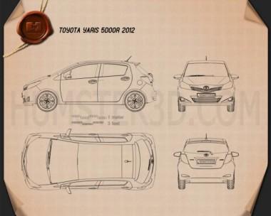 Toyota Yaris (Vitz) 5door 2012 Blueprint