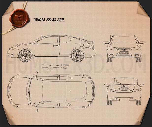 Toyota Zelas 2011 Blueprint