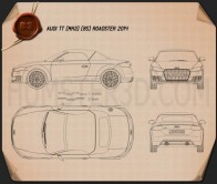 Audi TT (8S) roadster 2014 Blueprint