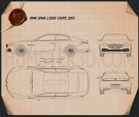 BMW Gran Lusso Coupe 2013 Blueprint